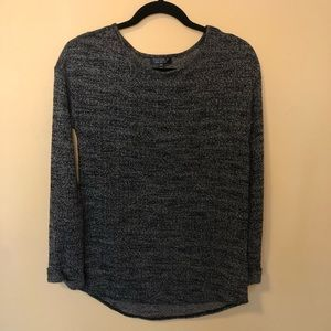 Topshop Peppered Black and Grey Light Sweater Top